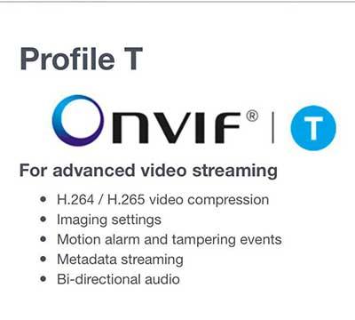 onvif پروفایل t برای استفاده در دوربین مداربسته معرفی شد